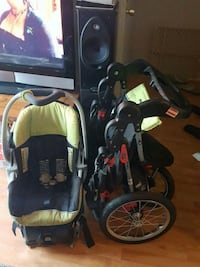 baby's black and green travel system North Highlands, 95660