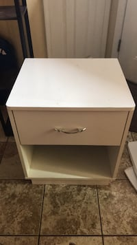white wooden 2-drawer nightstand Gaithersburg, 20877