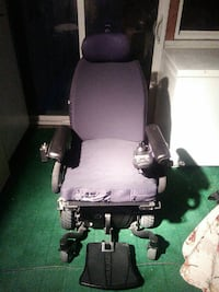 purple and black motorized wheelchair