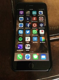 Space gray iphone 6 plus with case
