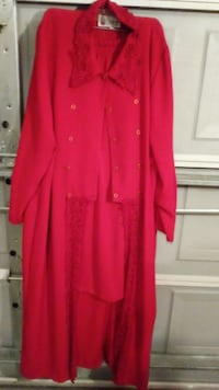 red button-up long-sleeved dress Pooler, 31322