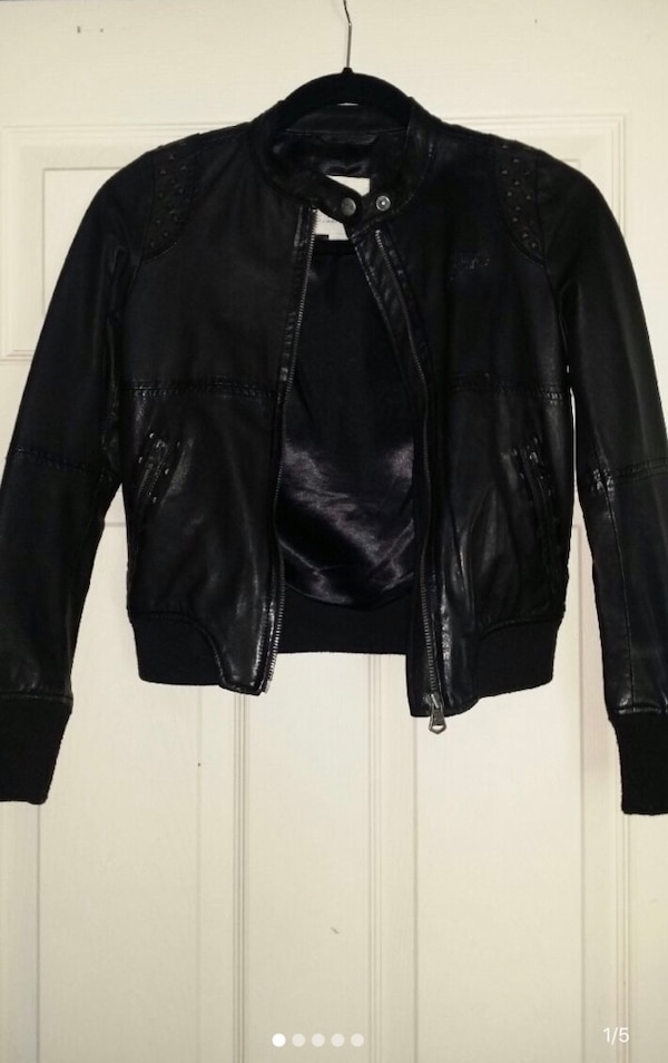 Diesel Kids Leather Jacket