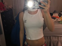 white crop top with choker (small) Vaughan, L4K 5W4