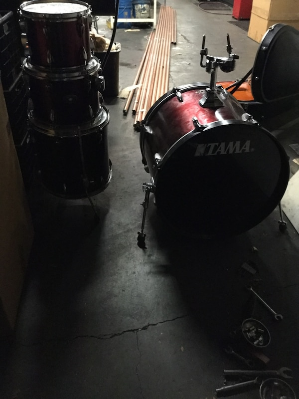 Used Black And Red Tama Imperial Star Drum Set For Sale In San Jose