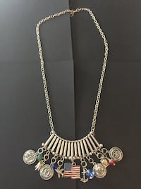 Military Charms Large Necklace Annapolis, 21401