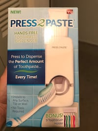white Press 2 paste toothpaste dispenser boxc Columbia, 21044