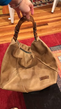 Women's brown leather hobo bag Washington, 20007