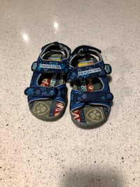 Paw patrol sandals size 9 riders size 12(they are free)
