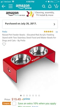 Red petlo red pet feeder box Frederick, 21702