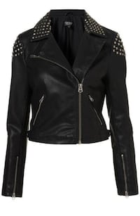 Topshop eco leather jacket s size