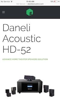 Daneli Acoustics HD-52 5.1 Home Theater System Las Vegas, 89144
