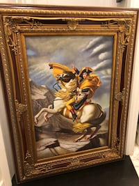 "Hand painted ""Napoleon Crossing The Alps"" replica Washington, 20011"