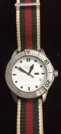 Gucci sport unisex watch 10atm water resistant Swiss made pre owned good condition 835554-1 Baltimore, 21205