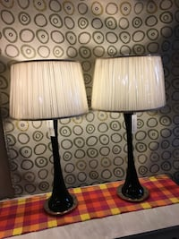 Two black-and-white table lamps Hickory, 28601