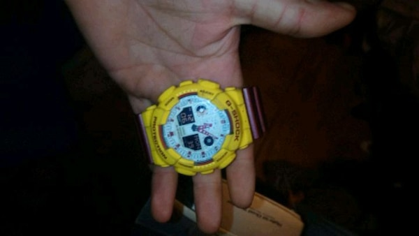 Maroon and gold G shock