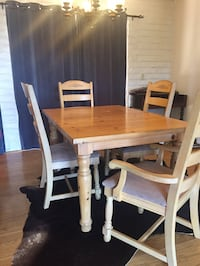 rectangular brown wooden table with six chairs dining set Danville, 94506