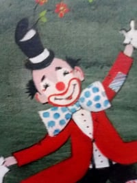 CLOWN PAINTING WALL PICTURE