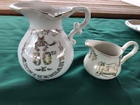 Pitcher and creamer 50 th year anniversary