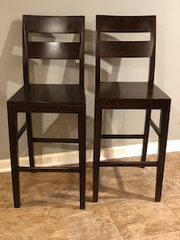 Pair of Beautiful Wood Counter Height Chairs Temple Hills, 20748