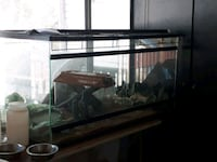 black framed clear glass pet tank Toronto, M4J 4R1