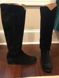 Frye Black Suede Boots, size 9.5