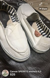 Canvas SPERRYS womens 8.5-great fall flats gently used -CLEANED* London, N5W 6E2