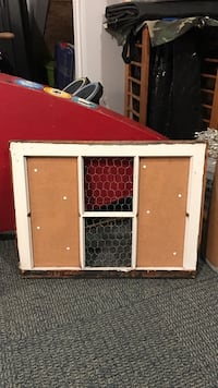 Window frame picture frame Pinterest collage chicken wire