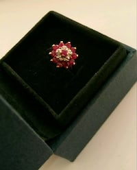 Ruby and Diamond 10k Ring