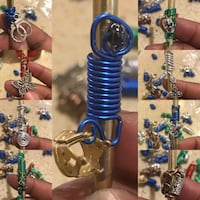 two blue and silver hookah Sterling, 20166