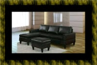 Black sectional with sectional Baltimore, 21215