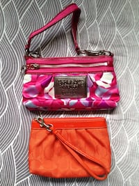 Authentic Coach Signature Leather Wallet Wristlet Bundle Lot.