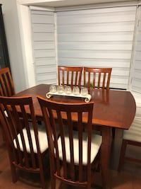 brown wooden dining table set Mississauga, L5N 1T5