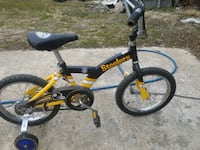 toddler's yellow and black bicycle with training wheels Jefferson, 21755