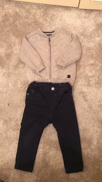 Zara cardigan and H&M trousers set size 9-23 months Slough, SL1 4XU