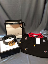 Gucci belt and shirt  42 km