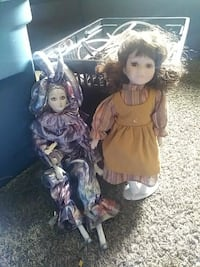 gray Jester clown and doll Blackfoot, 83221