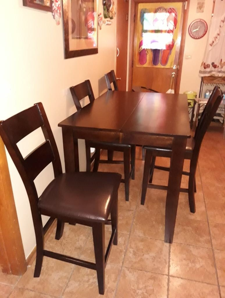 used dining room table with 6 chairs and extensions for sale in rh gb letgo com
