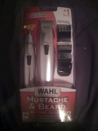 Wahl Mustache & Beard Battery Trimmer + Nose &Ear Trimmer
