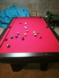 red and black billiard table Knoxville, 21758