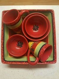 Italian cup and bowl set with large square serving Fairfax