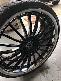 """2 sets of 22"""" rims with tires Charlotte, 28277"""