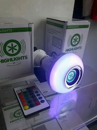Highlights LED bluetooth lightbulb speakers 555 km