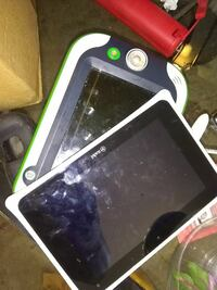 toddler's white and black tablet toy