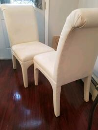 white wooden frame padded chair New York, 10037
