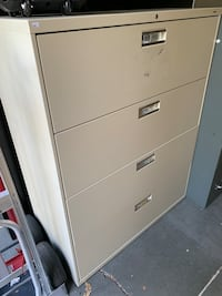 cream 4 drawer lateral file Tigard, 97223
