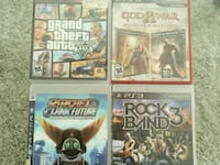 PS2 and PS3 games $50.00 each set of 4 you can mix Mesa