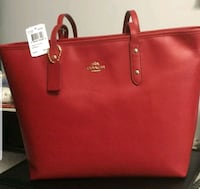 red Coach leather tote bag Richmond, 23222