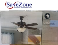 Brand New- Hometrends ceiling fan with lamp 42 inches MISSISSAUGA