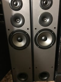 two black and gray speakers Vista, 92084