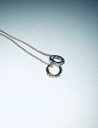 Small Double Ring Charm Necklace Toronto, M6P 2W7